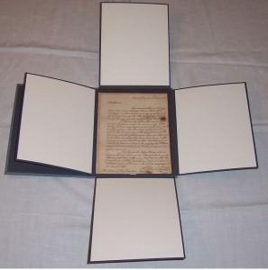 washington letter restored