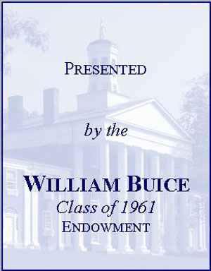 William Buice '61 Endowment Fund Bookplate