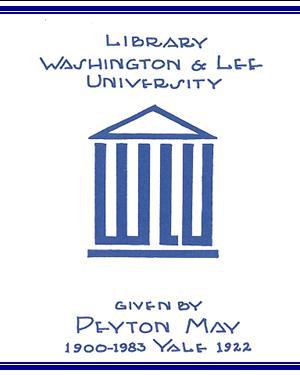 Peyton May Endowment Bookplate