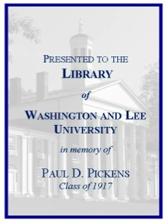 Paul D. Pickens '17 Fund Bookplate