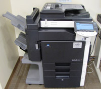 bizhub photocopier and scanner