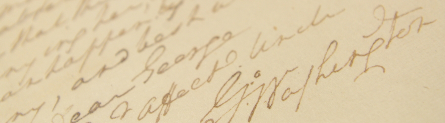 letter from special collections