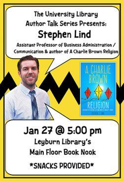 Flyer for Stephen Lind Author Talk