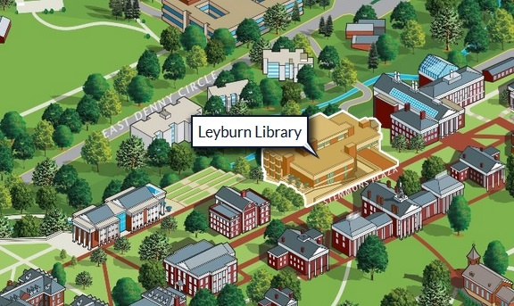 Campus Map Featuring Leyburn Library