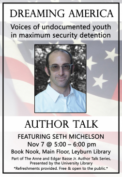 Flyer for Seth Michelson Author Talk