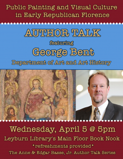Flyer for George Bent Author Talks