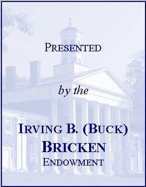 Irving B. (Buck) Bricken Library Endowment Fund Bookplate