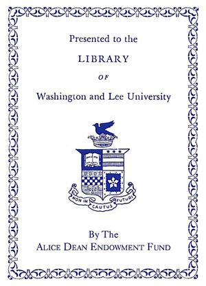 Alice Dean Endowment Fund Bookplate