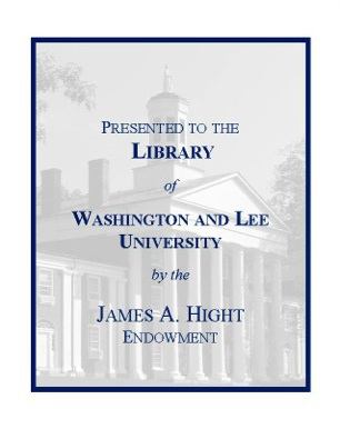 James A. Hight Library Endowment Fund Bookplate