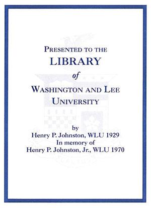 Johnston Memorial Fund Bookplate