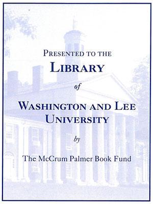 McCrum Palmer Book Fund Bookplate