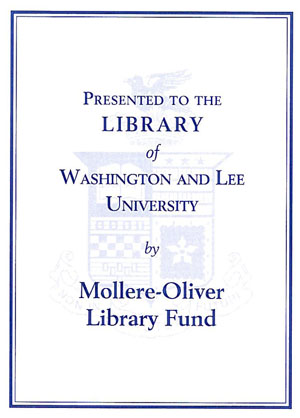The Mollere-Oliver Library Fund Bookplate