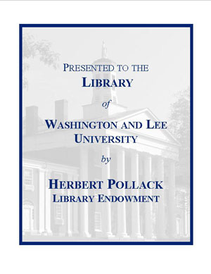 Herbert Pollack Endowment Fund Bookplate