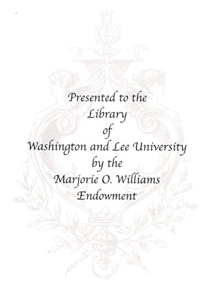 Marjorie O. Williams Endowment for Library Acquisitions Bookplate