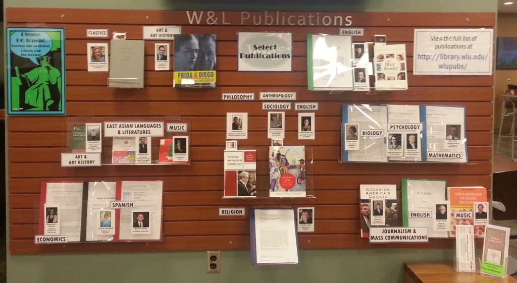 W&L Publications Wall