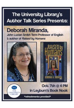 Flyer for Deborah Miranda Author Talk