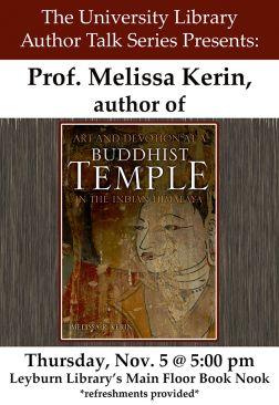Flyer for Melissa Kerin Author Talk