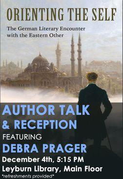 Flyer for Debra Prager Author Talk