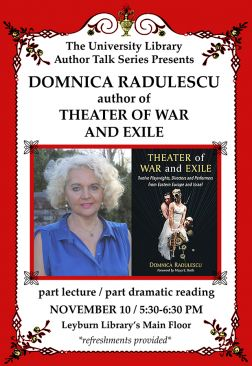 Flyer for Domnica Radulescu Author Talk