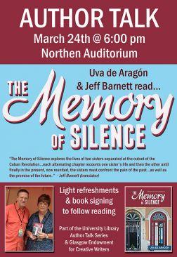 Flyer for Uva de Aragon & Jeff Barnett Author Talk