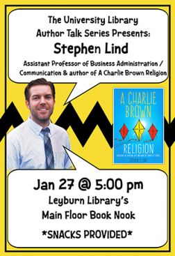 Flyer for Stephen Lind Author Talk