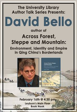 Flyer for David Bello Author Talk