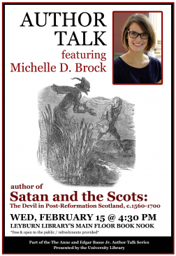 Flyer for Michelle Brock Author Talk