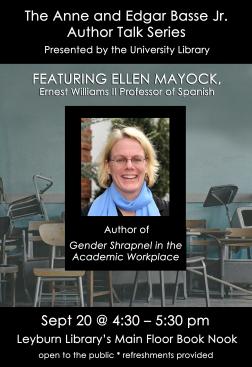 Flyer for Ellen Mayock Author Talk