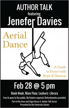 Flyer for Jenefer Davies Author Talk
