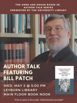Flyer for Bill Patch Author Talk