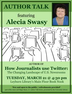 Flyer for Alecia Swasy Author Talk